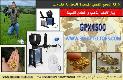 le plus fort détecteur d\'or et pépites d\'or natif GPX4500