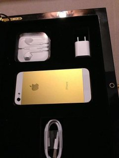 Apple iPhone 5S 64GB 24Carat Gold Arabic Menu
