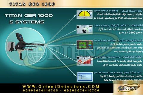 الجهاز الشامل لكشف الذهب والمعادن الثمينة TITAN GER 1000