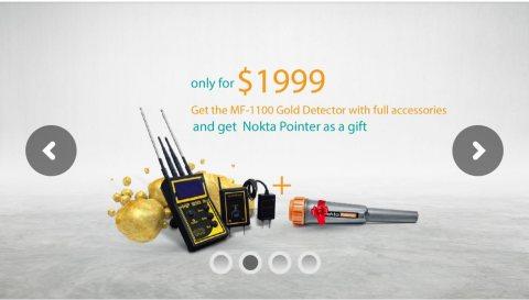 جهاز ام اف 1100أ لكشف الذهب MF-1100 A , Long Range Gold Detectors